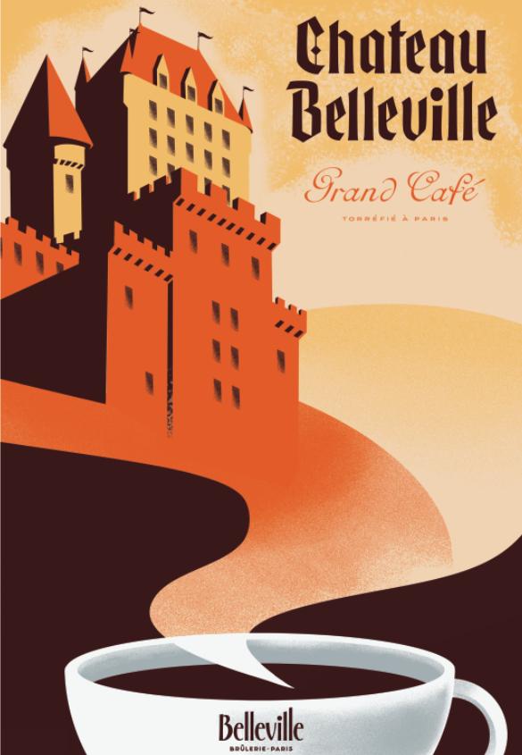 Cafe Belleville Screen Prints